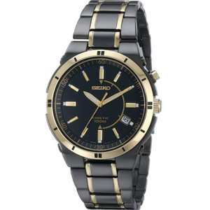 Seiko Men's SKA366 Kinetic Dress Watch