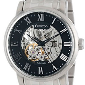 Armitron Men's 20/4919BKSV Skeleton Watch