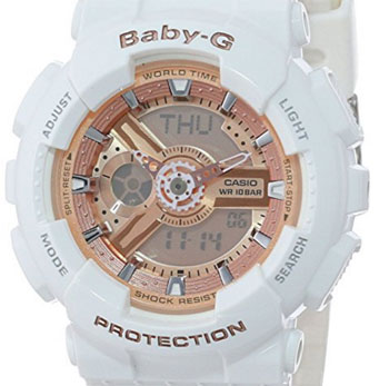 Casio Women's BA-110-7A1CR Baby-G Rose Gold Analog-Digital Watch