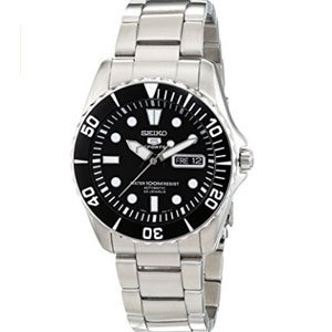 Seiko 5 Black Dial Automatic Mens Watch SNZF17