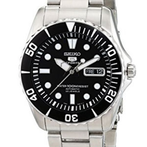 Seiko 5 Black Dial Stainless Steel Watch