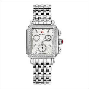 MICHELE Women's Deco Analog Silver Watch