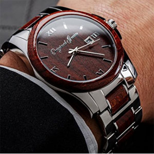 Original Grain Rosewood Men's Watch